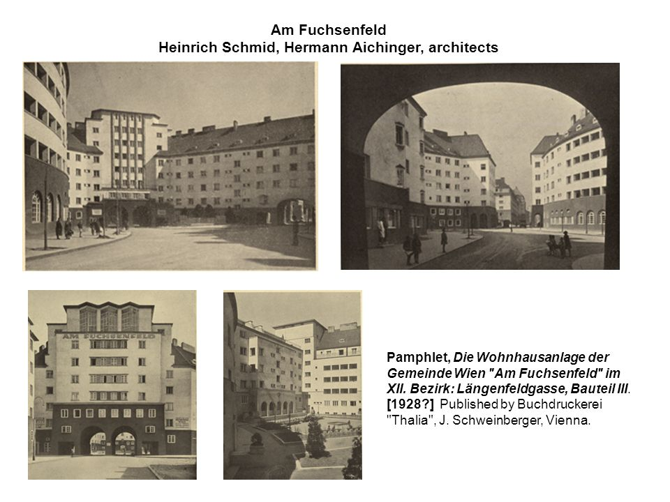 Pamphlet, Die Wohnhausanlage der Gemeinde Wien