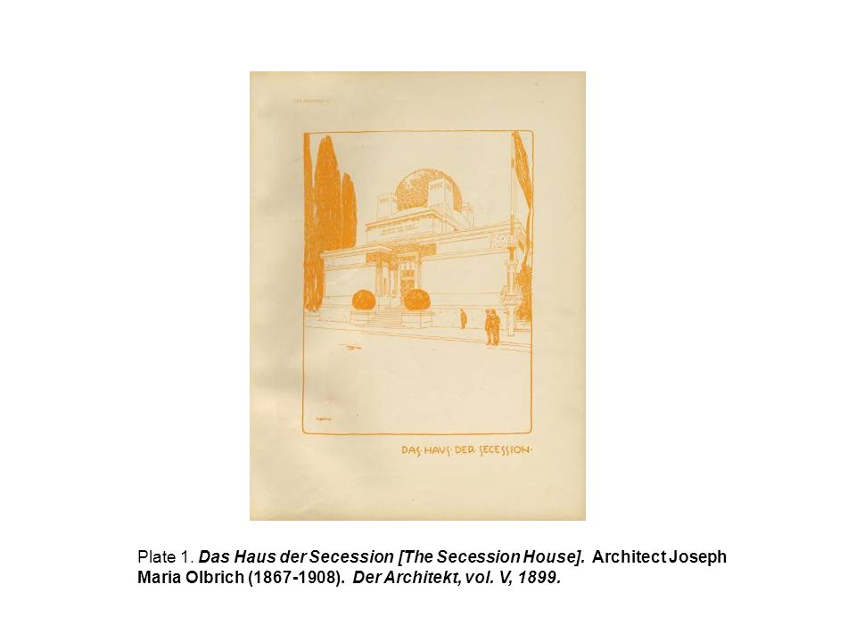 Plate 1. Das Haus der Secession [The Secession House]. Architect Joseph Maria Olbrich (1867-1908). Der Architekt, vol. V, 1899.