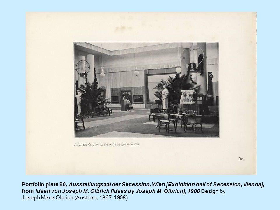 Portfolio plate 90, Ausstellungsaal der Secession, Wien [Exhibition hall of Secession, Vienna], from Ideen von Joseph M. Olbrich [Ideas by Joseph M. O