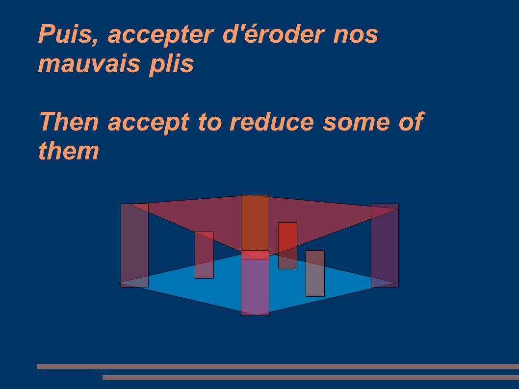 Puis, accepter d'éroder nos mauvais plis Then accept to reduce some of them