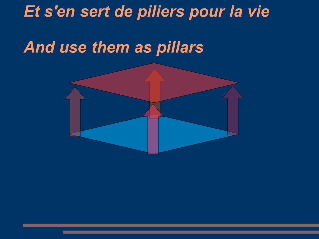 Et s'en sert de piliers pour la vie And use them as pillars