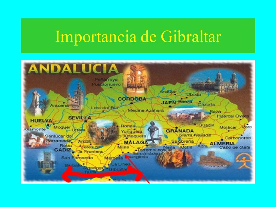 Gibraltar –It is a part of England –Source of tension between Spanish and British –Historically the Strait has been of geographic importance to the Br