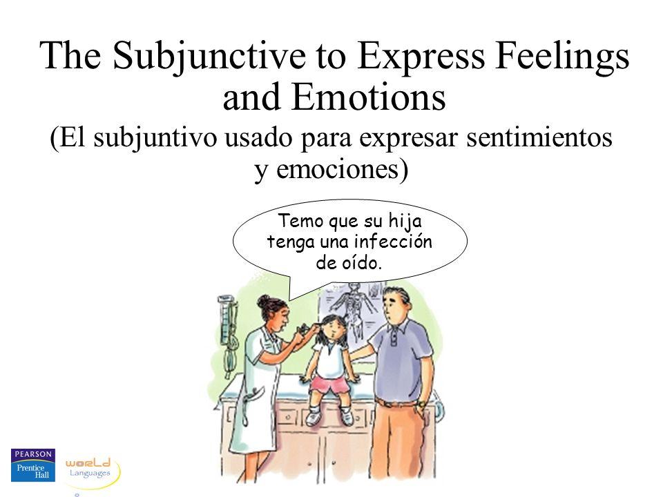 The Subjunctive to Express Feelings and Emotions (El subjuntivo usado para expresar sentimientos y emociones) Temo que su hija tenga una infección de