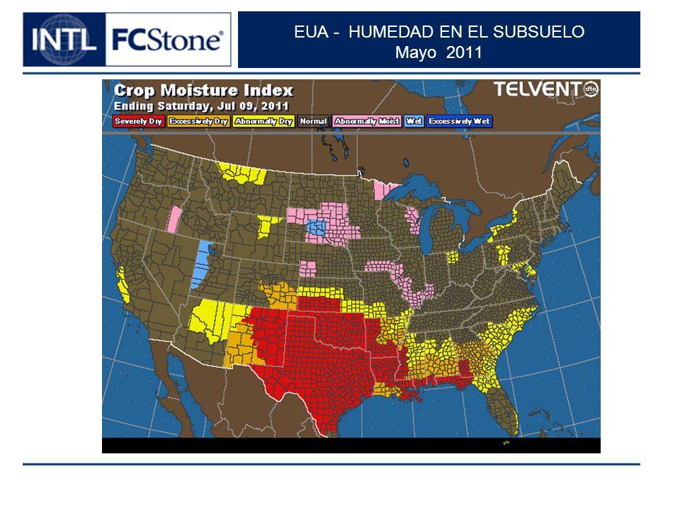 EUA - HUMEDAD EN EL SUBSUELO Mayo 2011
