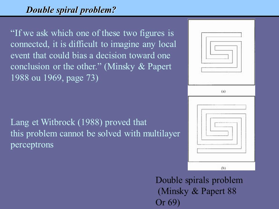 Double spiral problem.