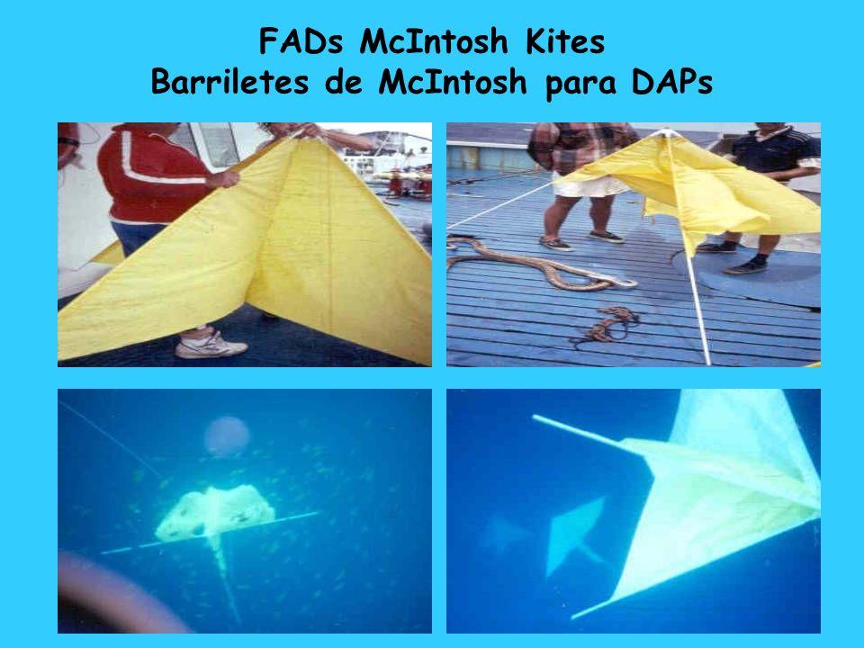 FADs McIntosh Kites Barriletes de McIntosh para DAPs