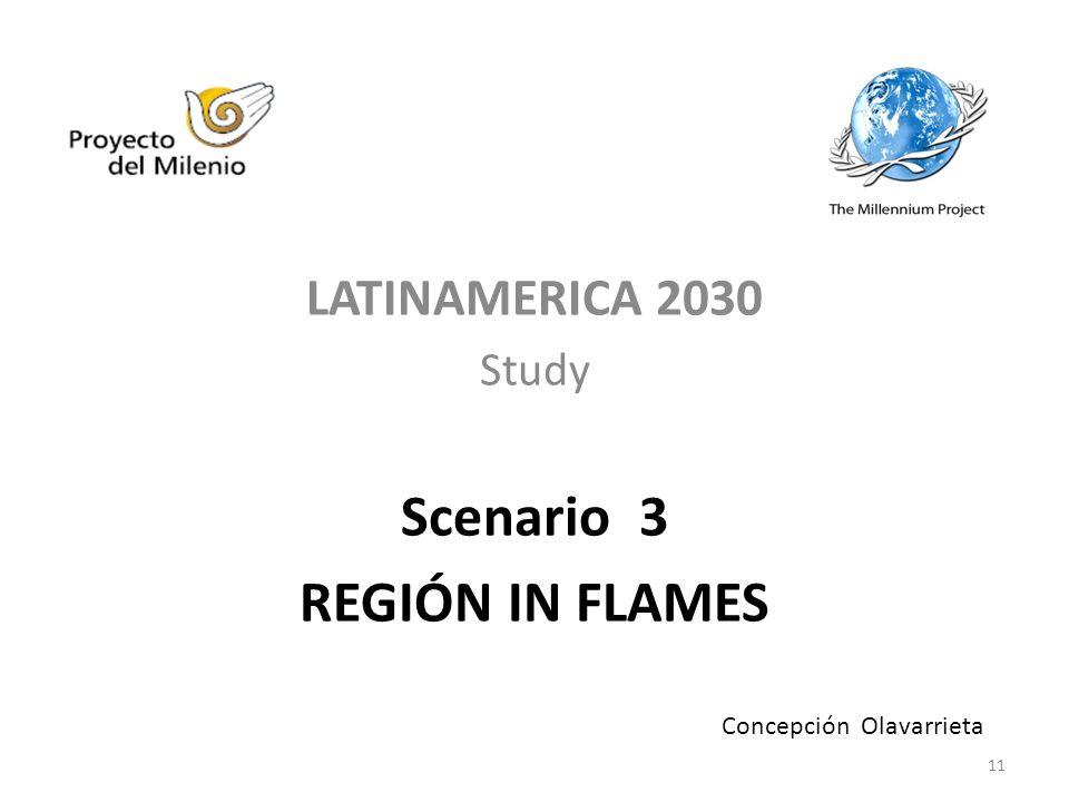 LATINAMERICA 2030 Study Scenario 3 REGIÓN IN FLAMES Concepción Olavarrieta 11