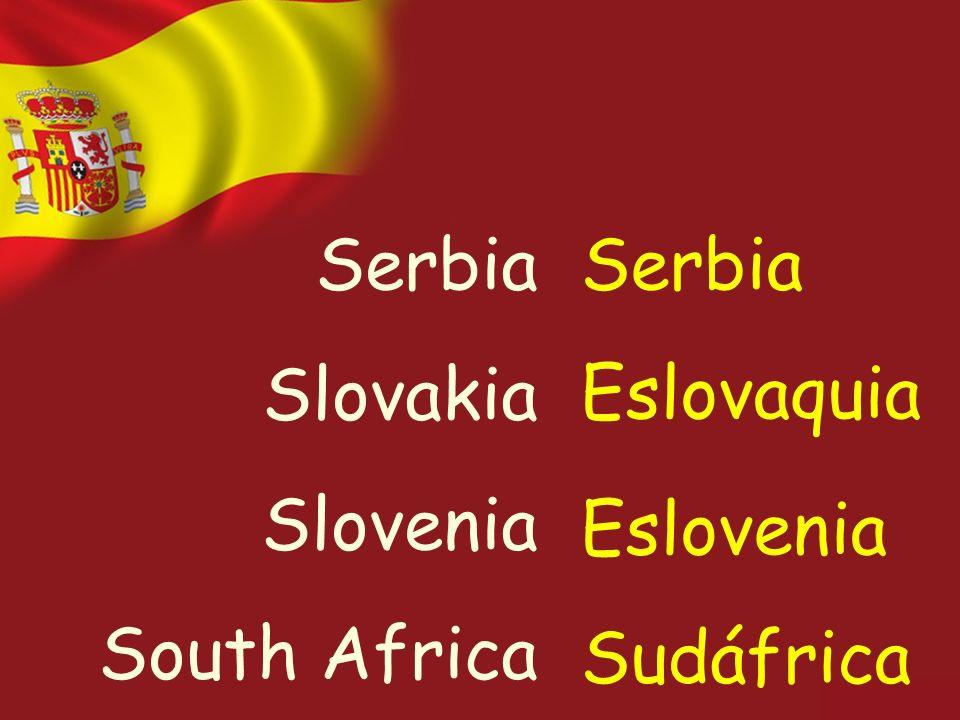 Serbia Slovakia Slovenia South Africa Serbia Eslovaquia Eslovenia Sudáfrica