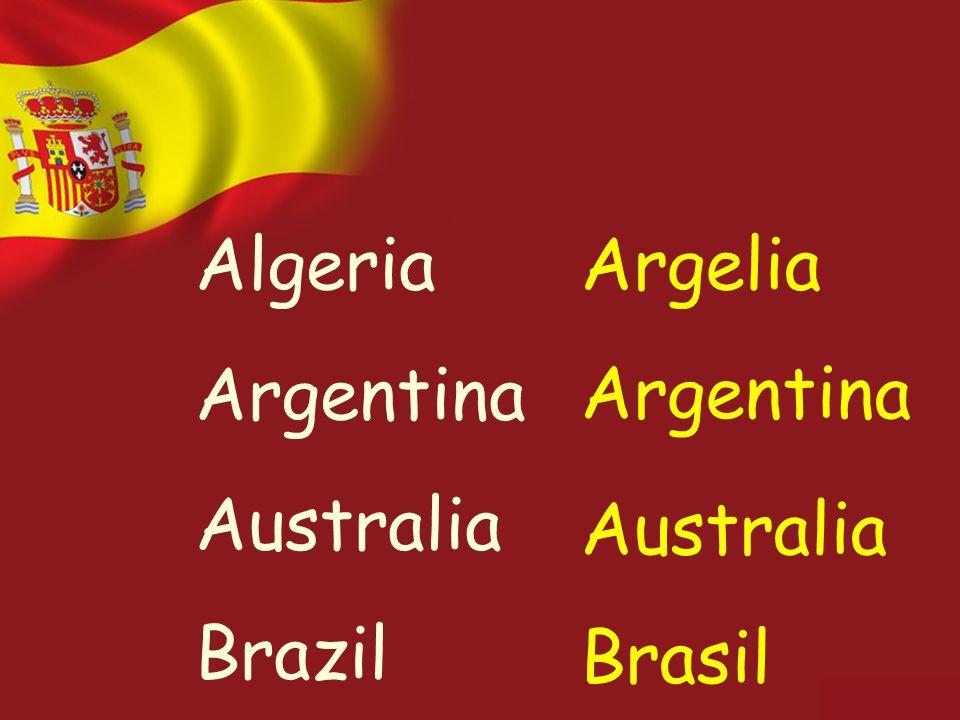 Algeria Argentina Australia Brazil Argelia Argentina Australia Brasil