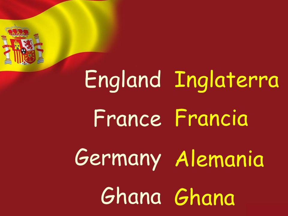 England France Germany Ghana Inglaterra Francia Alemania Ghana