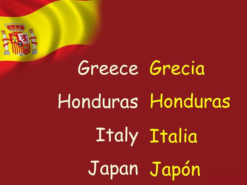 Greece Honduras Italy Japan Grecia Honduras Italia Japón