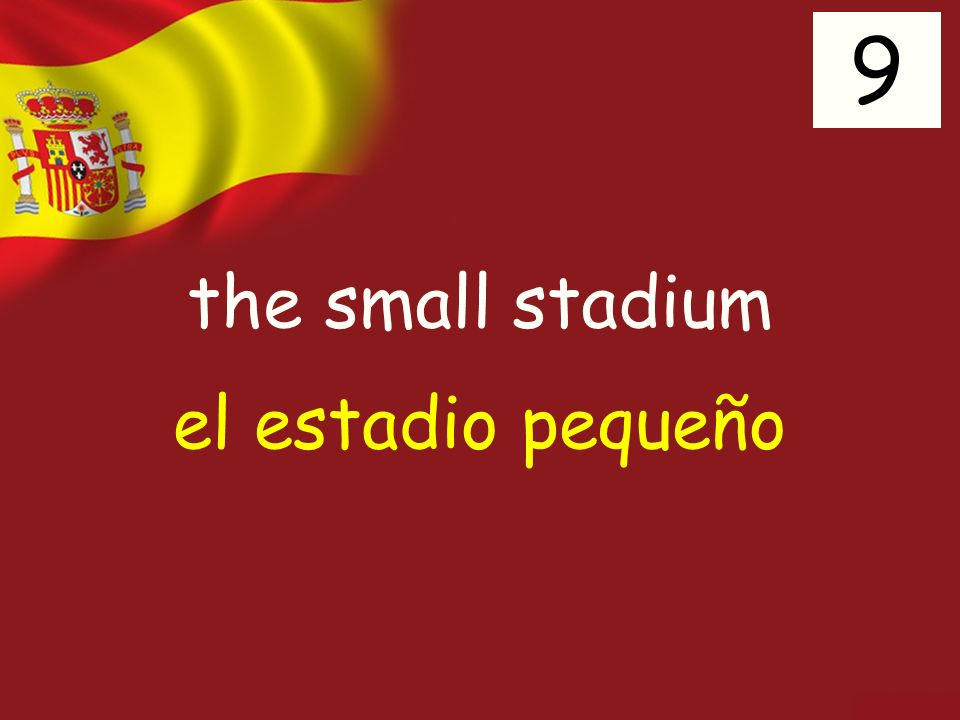 the small stadium 9 el estadio pequeño