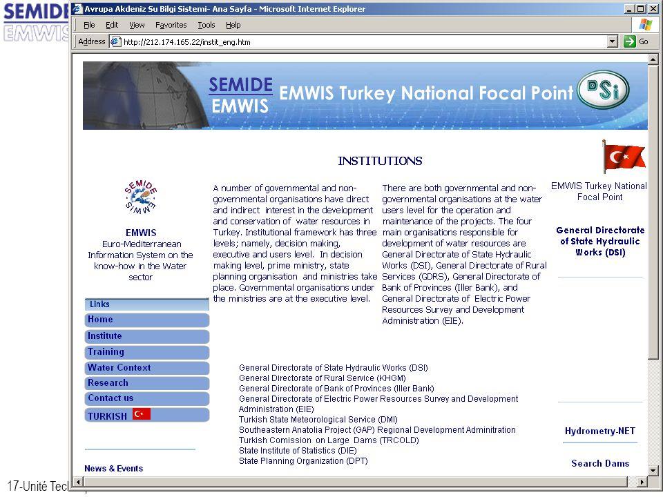 17-Unité Technique du SEMIDE / EMWIS Technical Unit16-Dec-13 Turkey