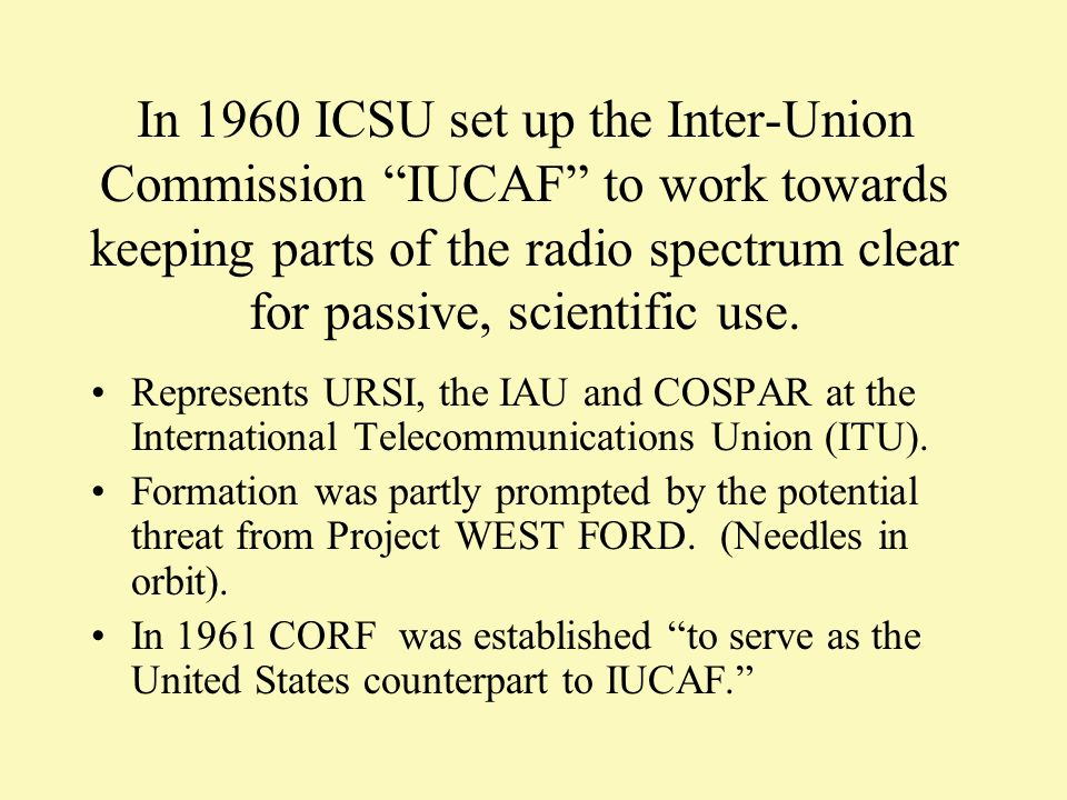 IUCAF members had to evolve from being starry-eyed astronomers as they encountered a world of politics, lobbying, entertainment, threats, espionage and bribery.