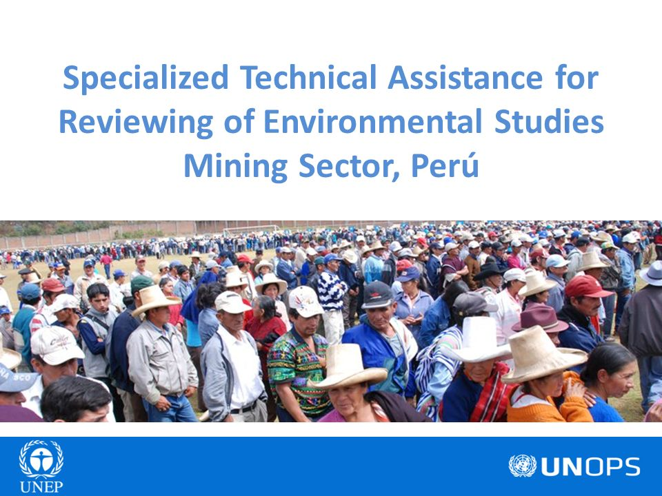 Specialized Technical Assistance for Reviewing of Environmental Studies Mining Sector, Perú