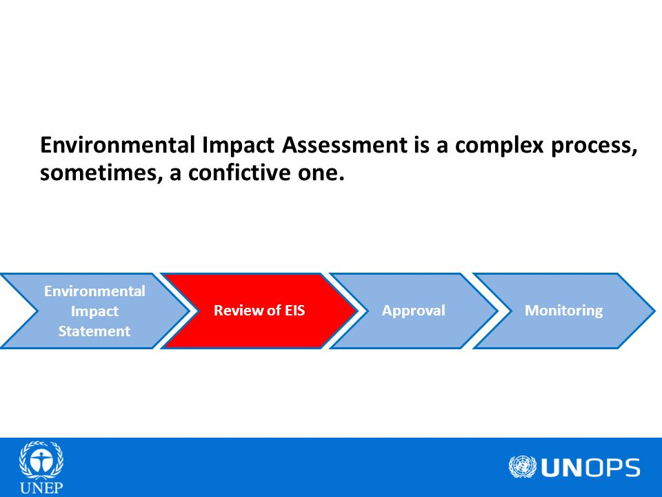 Environmental Impact Assessment is a complex process, sometimes, a confictive one. ApprovalReview of EIS Environmental Impact Statement Monitoring