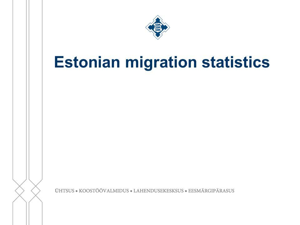 Estonian migration statistics
