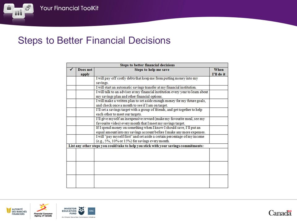 Steps to Better Financial Decisions