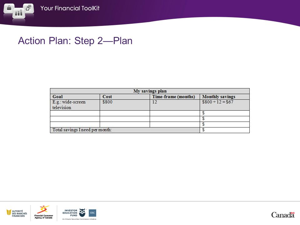 Action Plan: Step 2—Plan