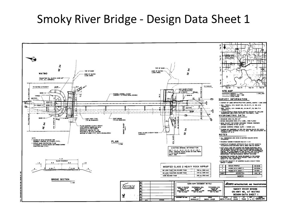 Smoky River Bridge - Design Data Sheet 1