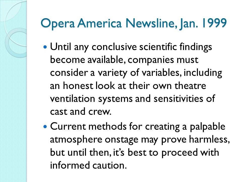 Opera America Newsline, Jan.