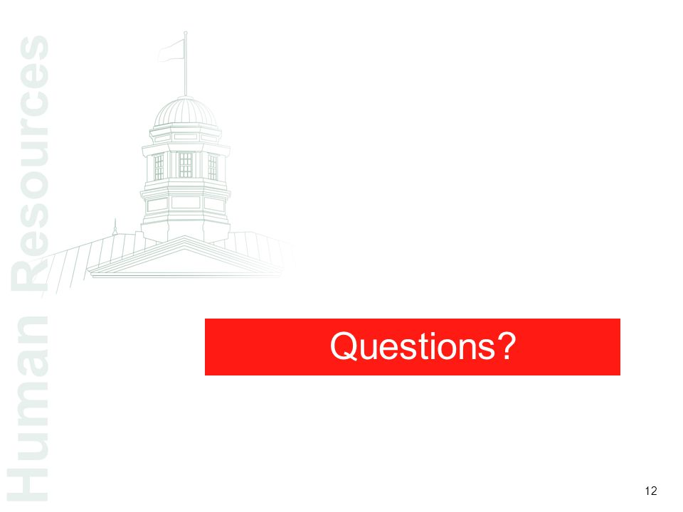 Questions Human Resources 12
