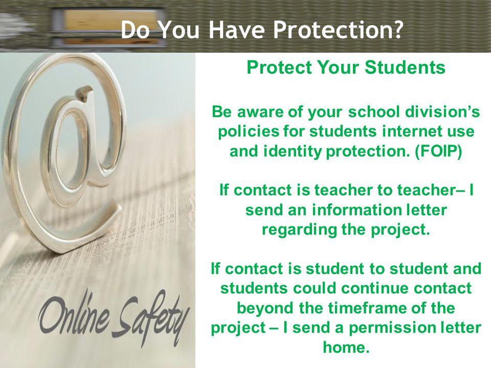 Do You Have Protection.