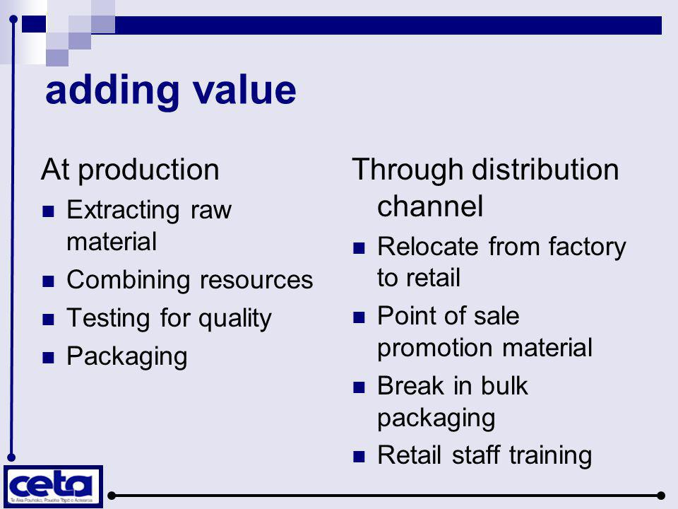 So why be part of a supply chain.