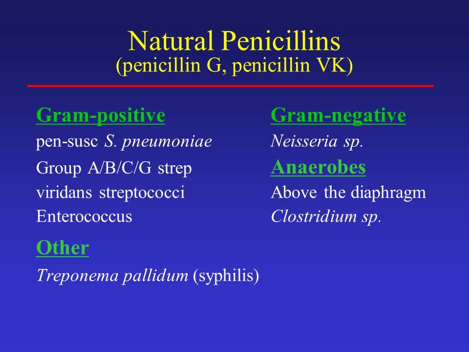 Penicillinase-Resistant Penicillins (nafcillin, oxacillin, methicillin) Developed to overcome the penicillinase enzyme of S.