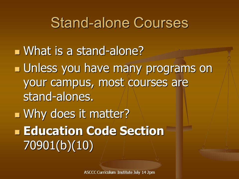 ASCCC Curriculum Institute July 14 2pm Lessons Learned from Reviewing Applications Handbook needs to be more objective - e.g., how much of a degree must transfer into a major at the 4-years for a transfer degree.