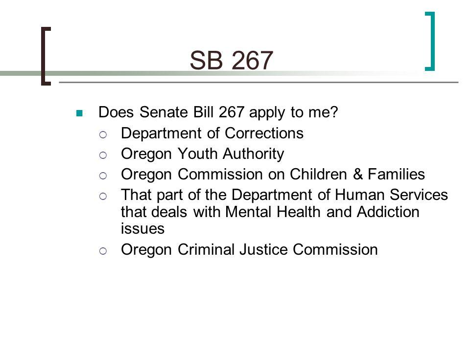 SB 267 Timelines By Sept.