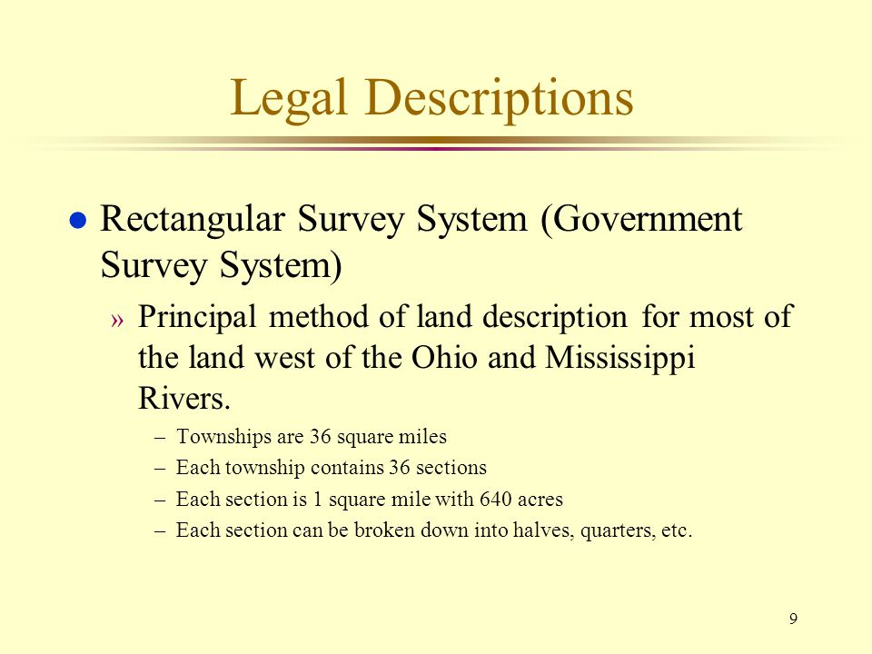 10 Rectangular Survey System (Government Survey System)