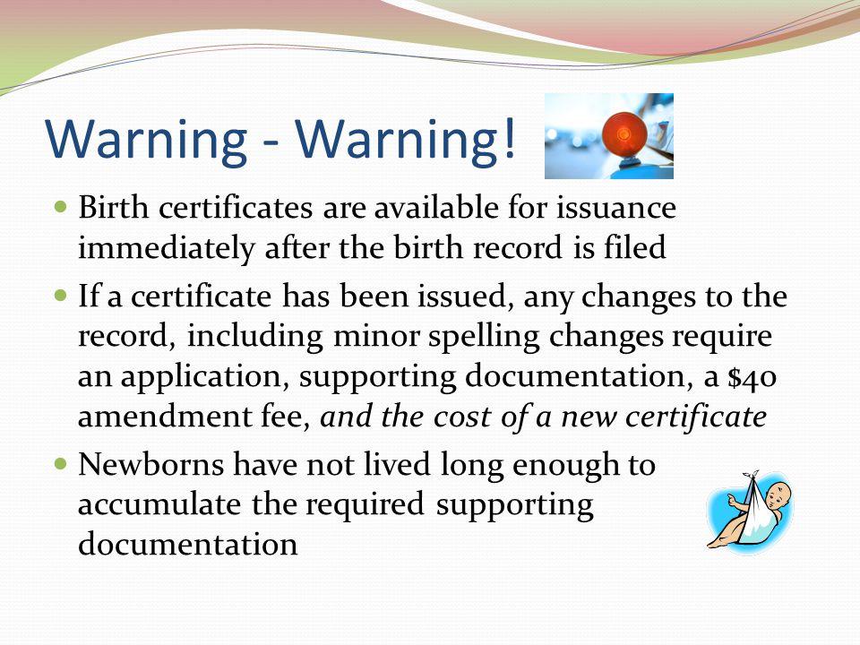 Warning - Warning.