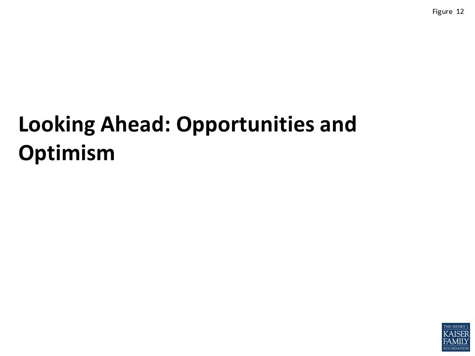 Figure 12 Looking Ahead: Opportunities and Optimism