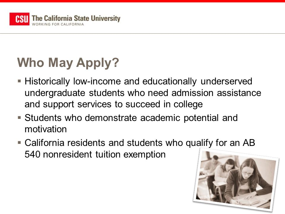 Additional Information About EOP  CSUMentor site: –www.csumentor.edu/planning/eop  California State University site: –www.calstate.edu/eop  Individual campus EOP department websites