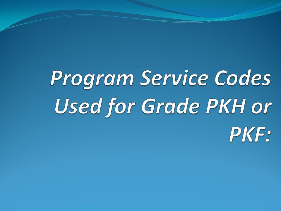 Other PreK Program Fact (Services) Codes: Other PreK program — 990 Level Designation: District-level service.