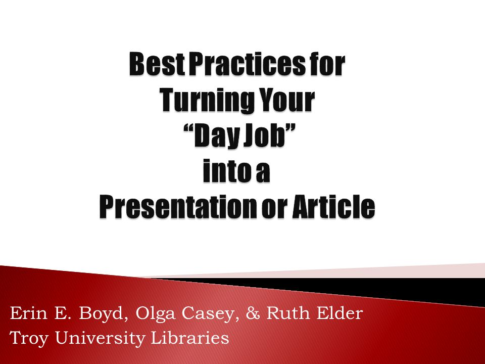 Erin E. Boyd, Olga Casey, & Ruth Elder Troy University Libraries