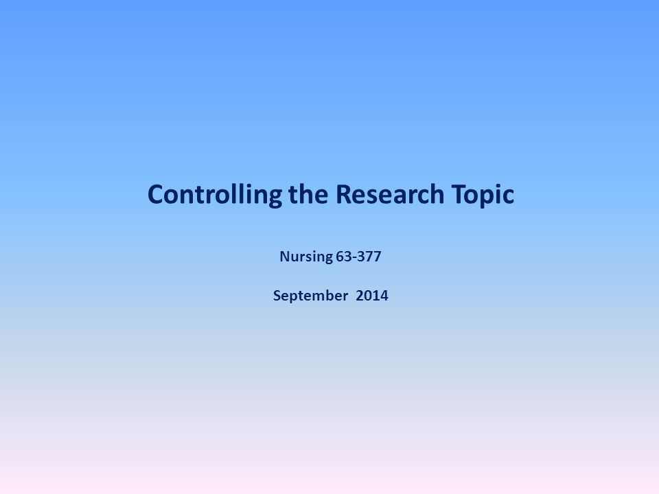 Why does topic control matter in research assignments?