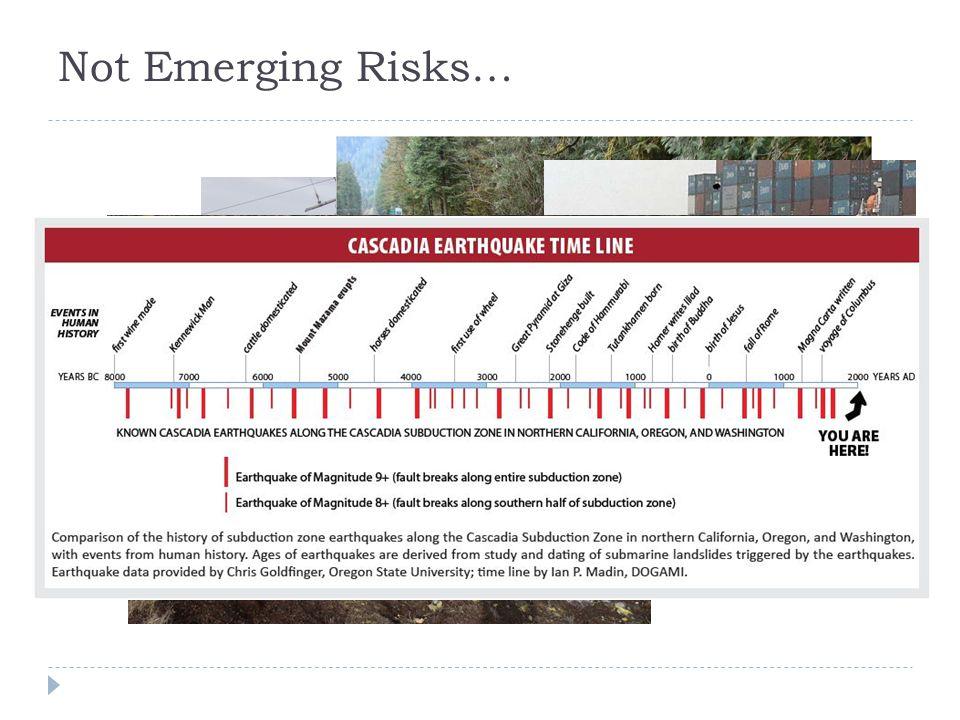 Not Emerging Risks…
