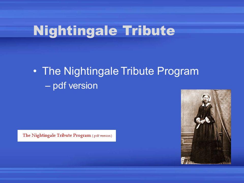 The Nightingale Tribute Program –pdf version