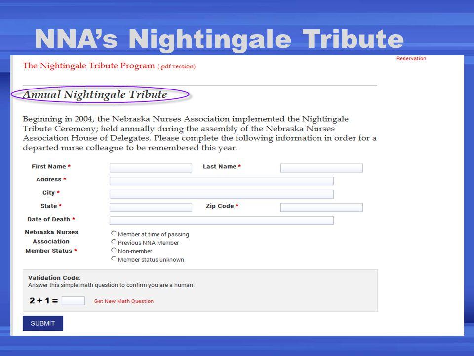 NNA's Nightingale Tribute