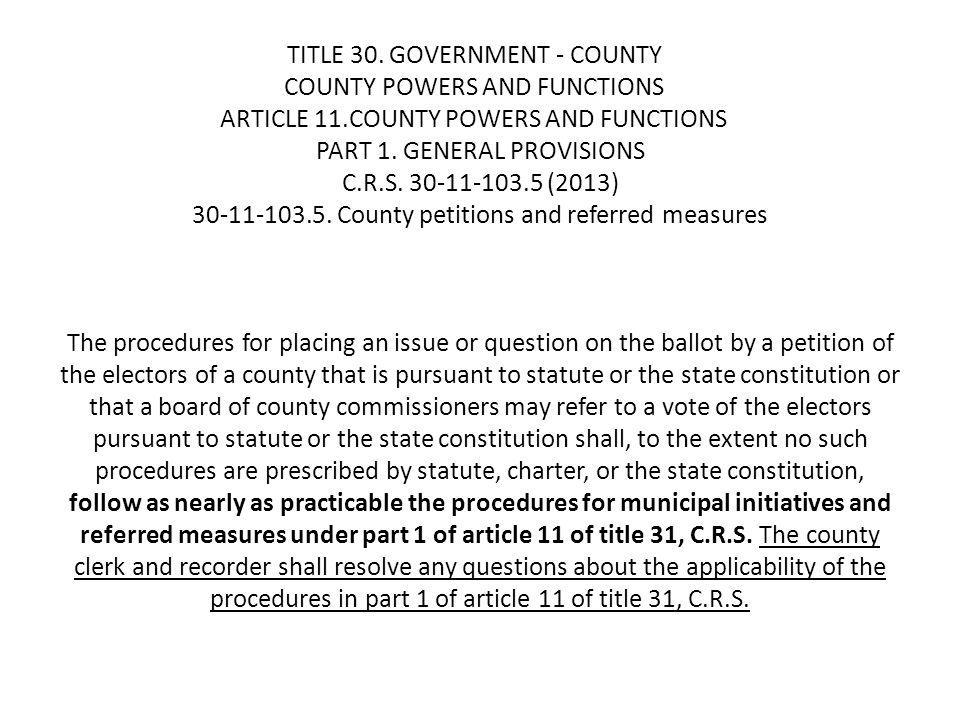 TITLE 31.GOVERNMENT - MUNICIPAL MUNICIPAL ELECTIONS ARTICLE 11.