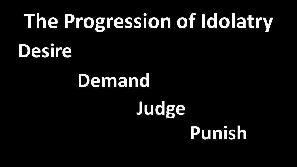 The Progression of Idolatry Desire Demand Judge Punish