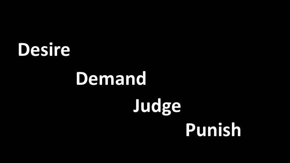 Desire Demand Judge Punish