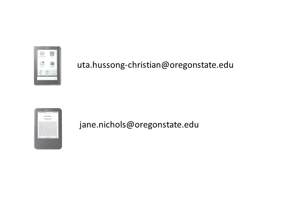 uta.hussong-christian@oregonstate.edu jane.nichols@oregonstate.edu