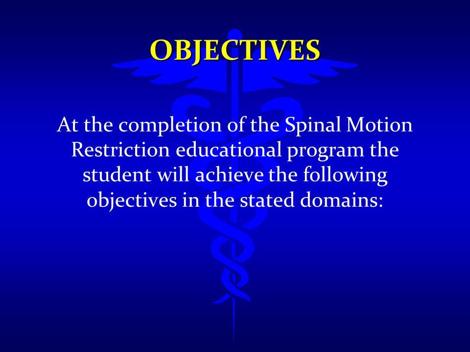 SPINAL MOTION RESTRICTION l Utilizes cervical collars, WHEN NEEDED l Does not utilize long spine boards for transport l Motion Restriction instead of immobilization l BASED ON SCIENCE