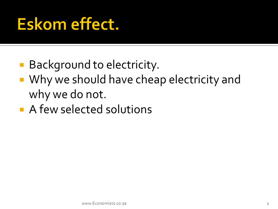  Background to electricity.  Why we should have cheap electricity and why we do not.