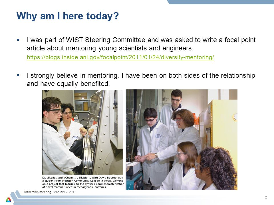 Partnership meeting, February 7, 2011 13 Be aware of situations like that