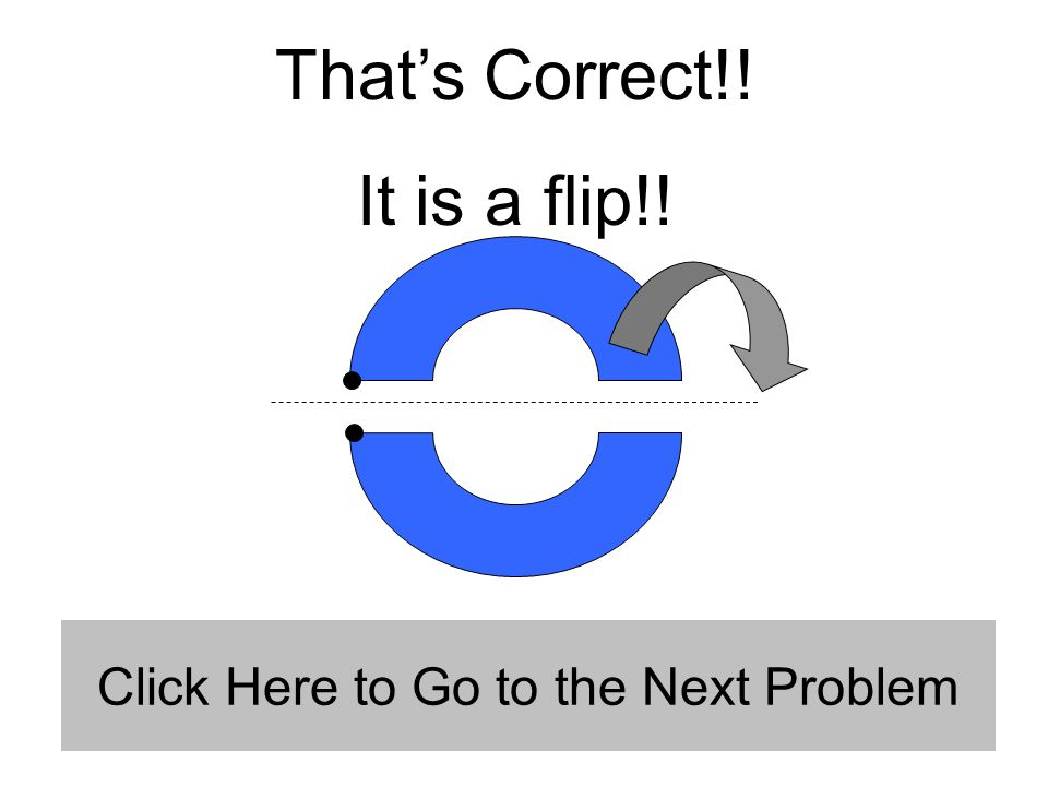 That's Correct!! It is a flip!! Click Here to Go to the Next Problem