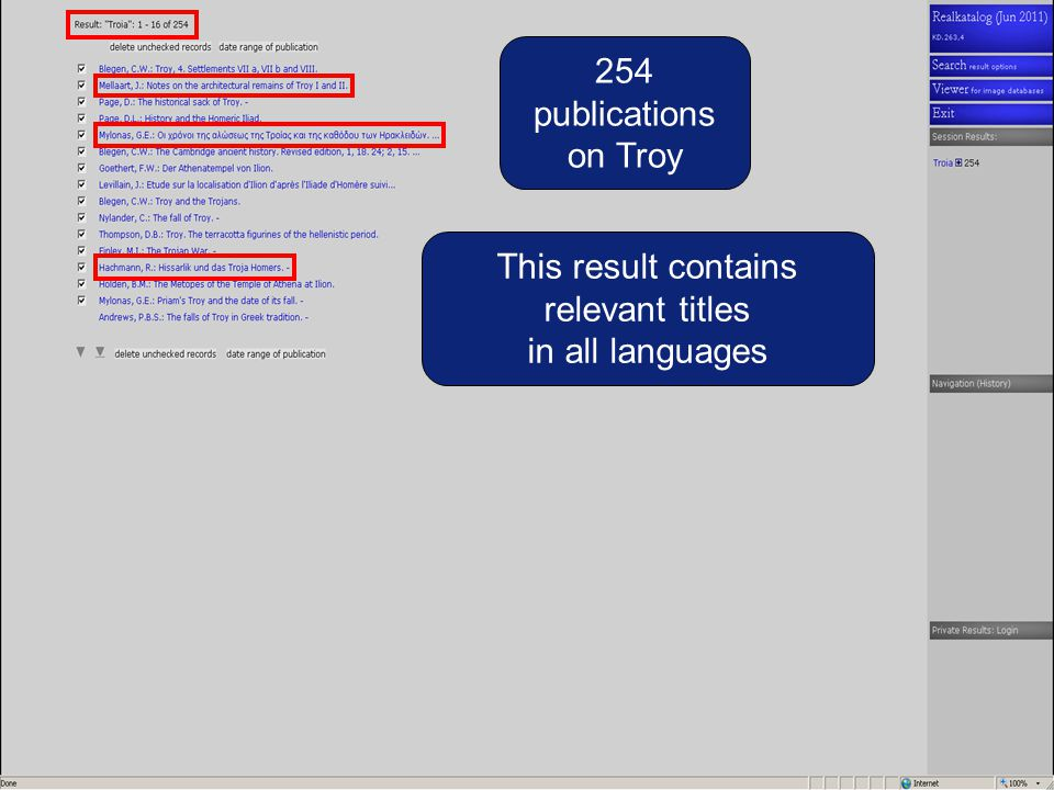 254 publications on Troy This result contains relevant titles in all languages